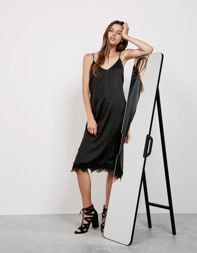 vestido lencero bsk