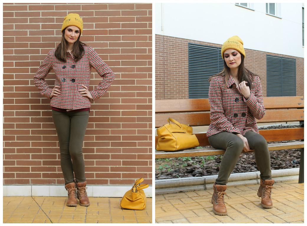 Mustard Yellow Beanie Outfit - El Rincu00f3n de Rachel