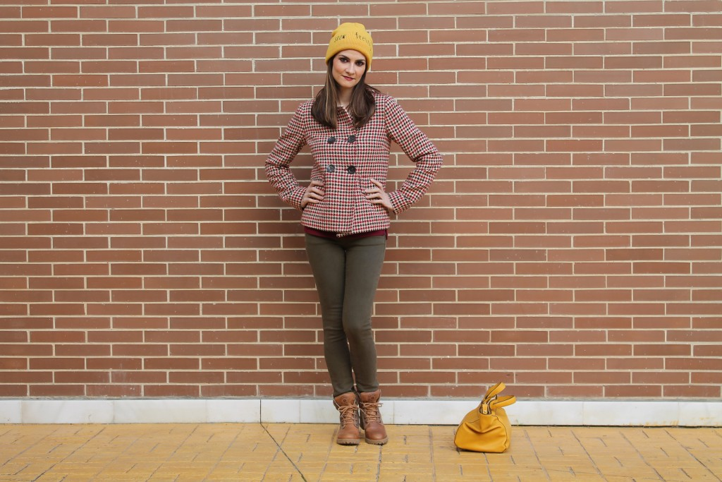 Mustard Yellow Beanie Outfit