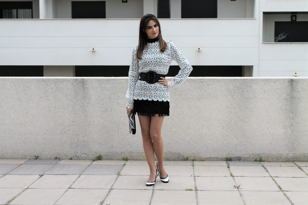 White Lace Blouse Outfit