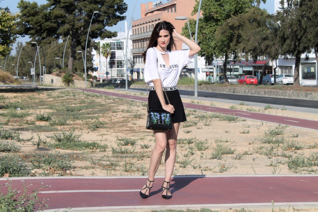 Graphic Tee & Skirt Outfit